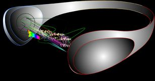 Grafiek headphoes 10 van de muziek vector illustratie