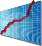 Grafiek line3d omhoog Stock Afbeelding
