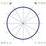 Grafiek om een horoscoop op te stellen Stock Fotografie