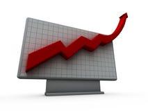 Grafiek omhoog Royalty-vrije Stock Foto's