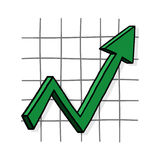 Grafiek op illustratie Stock Fotografie