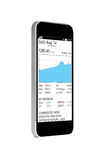 Grafiek op smartphone Royalty-vrije Stock Afbeelding