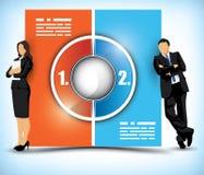 Grafiek in twee stadia van het kleuren de veranderende werkschema Stock Afbeelding