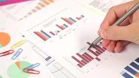 Grafiek van Bedrijfsbegroting stock videobeelden