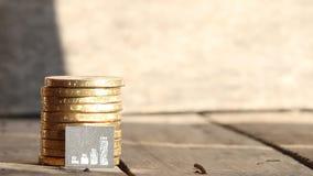 Grafiek of van de geldgrafiek idee stock videobeelden