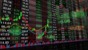 Grafiek van de indexen van de beursmarkt stock illustratie