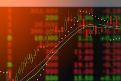 Grafiek van de grafiek van de de kaarsmarkt van de investeringsvoorraad Royalty-vrije Stock Foto