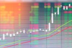 Grafiek van de grafiek van de de kaarsmarkt van de investeringsvoorraad Royalty-vrije Stock Foto's