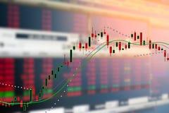 Grafiek van de grafiek van de de kaarsmarkt van de investeringsvoorraad Royalty-vrije Stock Fotografie