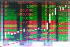 Grafiek van de grafiek van de de kaarsmarkt van de investeringsvoorraad Royalty-vrije Stock Afbeeldingen