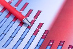 Grafiek van de Tendensen van de Verkoop Stock Foto's