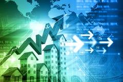 Grafiek van de woningmarkt Royalty-vrije Stock Afbeelding