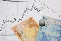 Grafiek van geld Stock Afbeeldingen