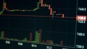 Grafiek van Internet-handelcrypto munt stock video