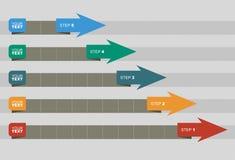 Grafiek van ontwikkeling Stock Fotografie