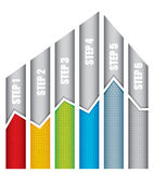 Grafiek van ontwikkeling Royalty-vrije Stock Foto's