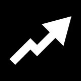 Grafiek van pictogram van de de groei het witte kleur Stock Afbeeldingen