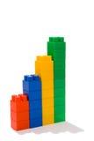 Grafiek van stuk speelgoed blokken Royalty-vrije Stock Afbeelding