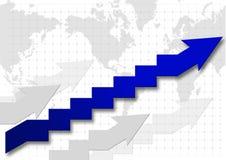 Grafiek van succes Royalty-vrije Stock Foto's