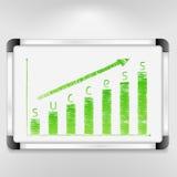 Grafiek van succes Stock Afbeeldingen