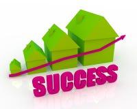 Grafiek van succes Royalty-vrije Stock Afbeelding