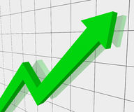 Grafiek van vooruitgang Stock Foto's
