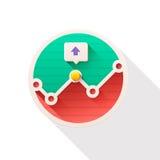 Grafiek vlak pictogram Knoop Stock Foto's