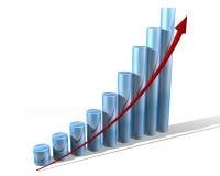 Grafiek voor de toekomst Stock Foto