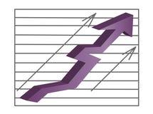 Grafiek voor financiën Royalty-vrije Stock Afbeelding