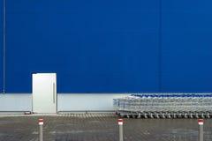 Grafieken buiten supermarkt Royalty-vrije Stock Afbeelding