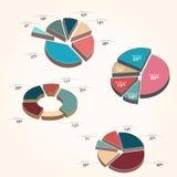 Grafieken - cirkeldiagramstijl Stock Afbeeldingen