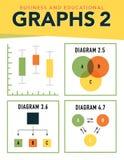 Grafieken en grafieken stock illustratie