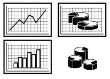 Grafieken en Diagrammen. stock illustratie
