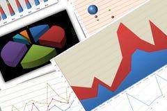 Grafieken en grafieken vector illustratie