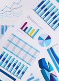 Grafieken en grafieken, bedrijfsachtergrond Royalty-vrije Stock Afbeelding