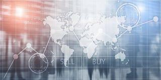 Grafieken van de investerings de Financi?le Grafiek Het intelligentiedashboard verkoopt en koopt royalty-vrije stock foto