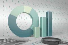 Grafieken van financiële analyse Royalty-vrije Stock Foto's
