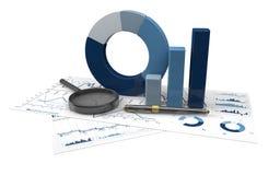 Grafieken van financiële analyse Stock Afbeeldingen