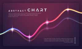 In Grafiekendiagrammen en grafieken op donkere achtergrond royalty-vrije illustratie