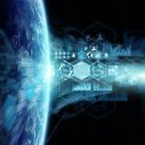 Grafiekengrafiek en analyse bij aarde het 3D teruggeven Stock Foto