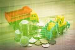Grafiekgrafiek van effectenbeursinvestering handel Royalty-vrije Stock Fotografie