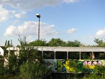 Grafiet op de trein royalty-vrije stock afbeeldingen