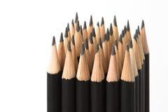 Grafiet potloden in blok Royalty-vrije Stock Afbeelding