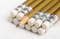 Grafiet potlodenclose-up Stock Foto's