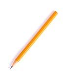 Grafiet potlood van gele kleur stock afbeeldingen
