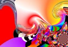 Grafik σχεδίου νέα τέχνη εικόνων ζωγραφικής τέχνης αφηρημένη ζωηρόχρωμη Στοκ Φωτογραφίες