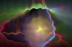 Grafik Abstrct Digital Schöner fantastischer Nebelfleck stock abbildung