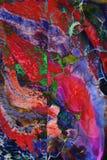 Grafik der gemischten Medien, bunte künstlerische gemalte Schicht der Zusammenfassung in den roten, grünen, blauen Farbpalettenst lizenzfreies stockfoto