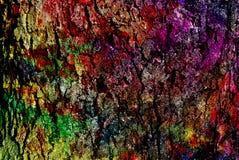 Grafik der gemischten Medien, bunte künstlerische gemalte Schicht der Zusammenfassung in der Farbpalette auf Schmutzbeschaffenhei stockfoto