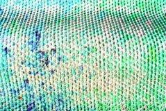 Grafik der gemischten Medien, bunte künstlerische gemalte Schicht der Zusammenfassung in der hellgrünen, blauen Farbpalette auf S stockfotografie